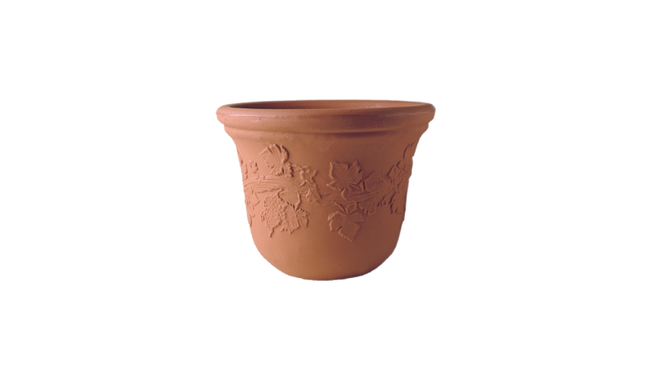 Bell Planter With Grape Design