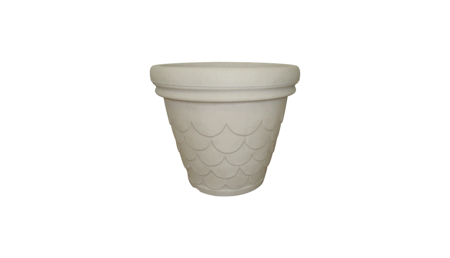 Round Fish Scale Planter